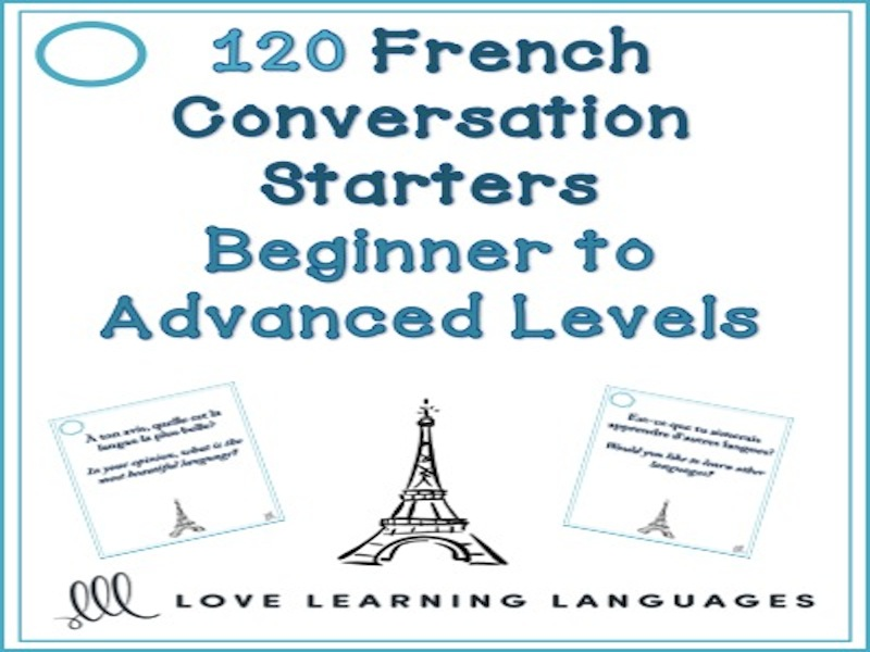 GCSE FRENCH: 120 French conversation starters - Beginner to advanced levels