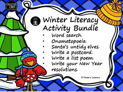 Winter literacy activity bundle