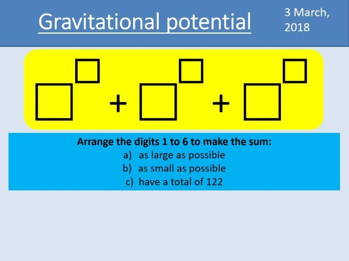 A-level Physics Unit 7.2 Gravitational fields - 7.2.3 Gravitational potential (New AQA spec)