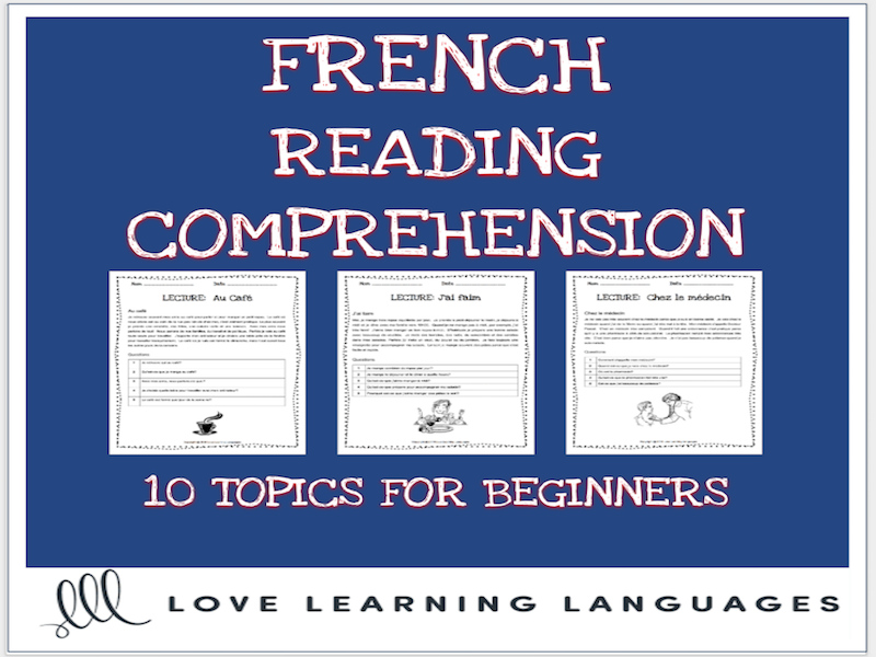 French reading comprehension texts and questions for beginners