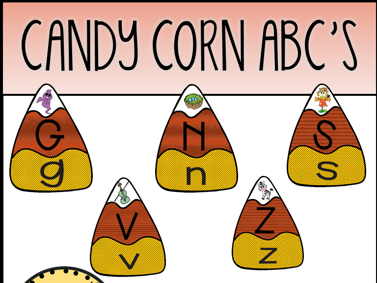 Candy Corn ABC's Puzzles