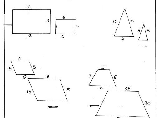 Scaling lengths, proportion, ratio using shapes