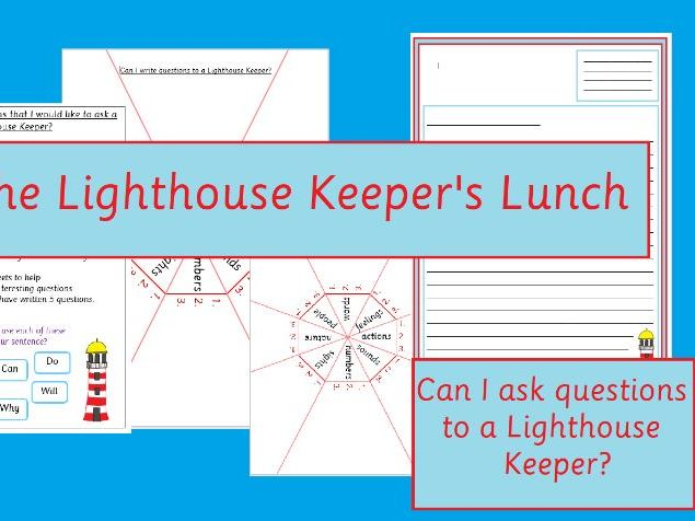 The Lighthouse Keeper's Lunch Questions and Letter to a Lighthouse Keeper