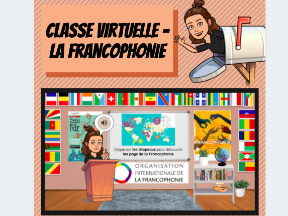 Cultural Virtual Bitmoji Classroom - la Francophonie