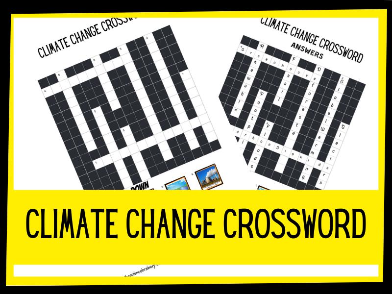 KS2 climate change crossword