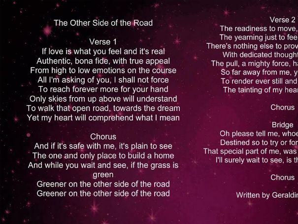 The Other Side of The Road - Song