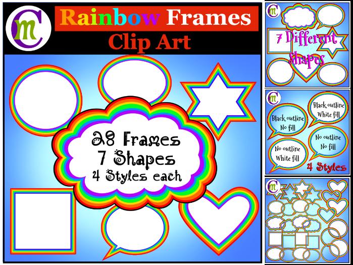 Rainbow Frames Clip Art
