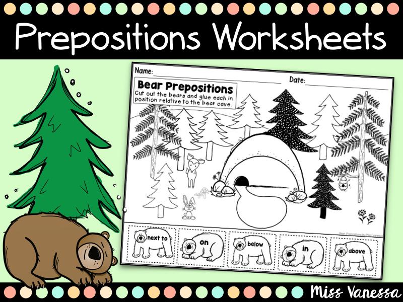 Prepositions Worksheets