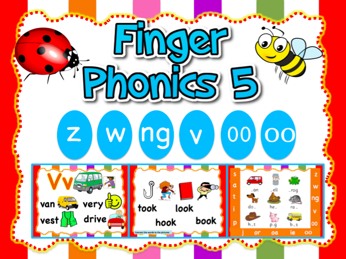 Jolly Phonics 5-z,w,ng,v,oo,oo - Animated PPT (23 slides)