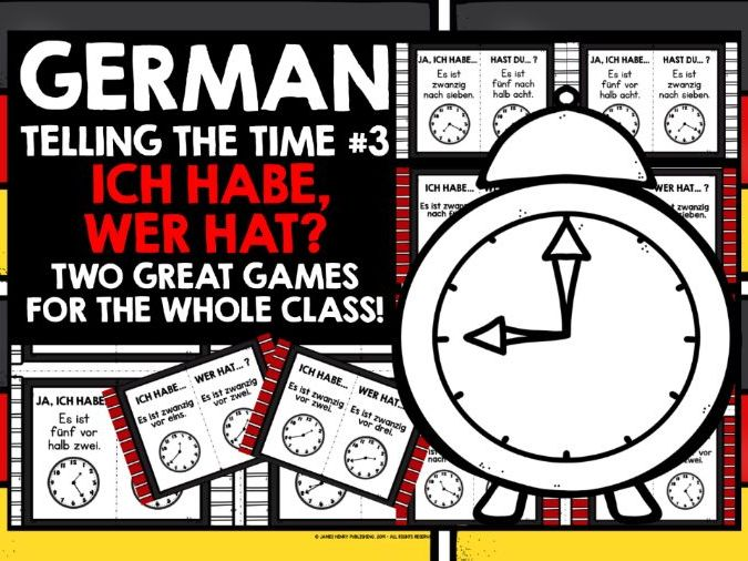 GERMAN TELLING TIME I HAVE WHO HAS GAMES #3