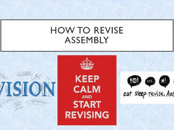 Revision - How to Revise Assembly/Tutor Time