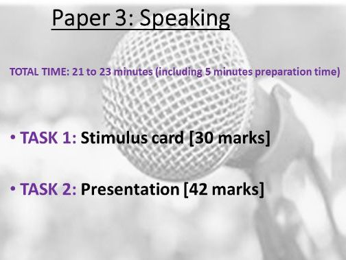HOW TO CONDUCT THE SPEAKING ASSESSMENT (PAPER 3) EDEXCEL PEARSON A LEVEL