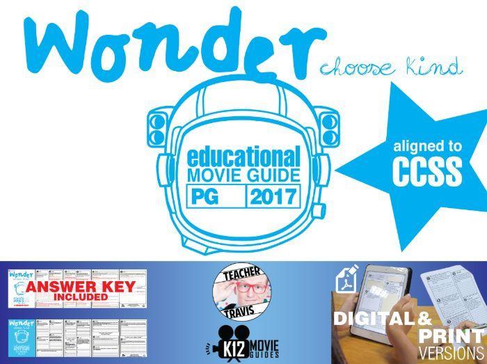 Wonder Movie Guide | Film Questions | Worksheet (PG - 2017)
