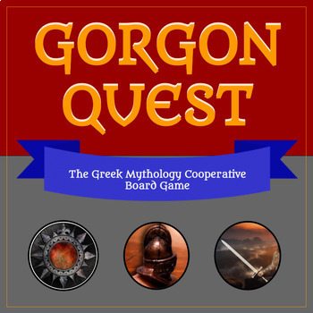 Gorgon Quest: Cooperative Greek Mythology Board Game BUNDLE