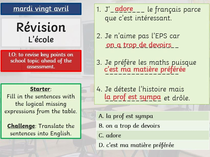 School - Revision KS3