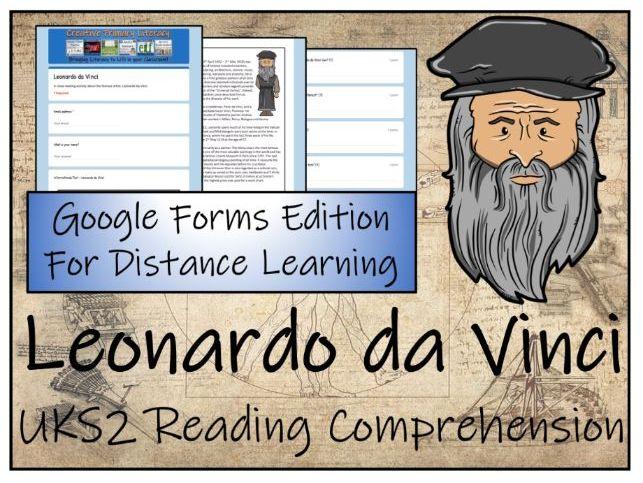 UKS2 Leonardo da Vinci Reading Comprehension & Distance Learning Activity