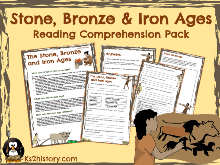 Stone Age, Bronze Age, Iron Age Reading Comprehension