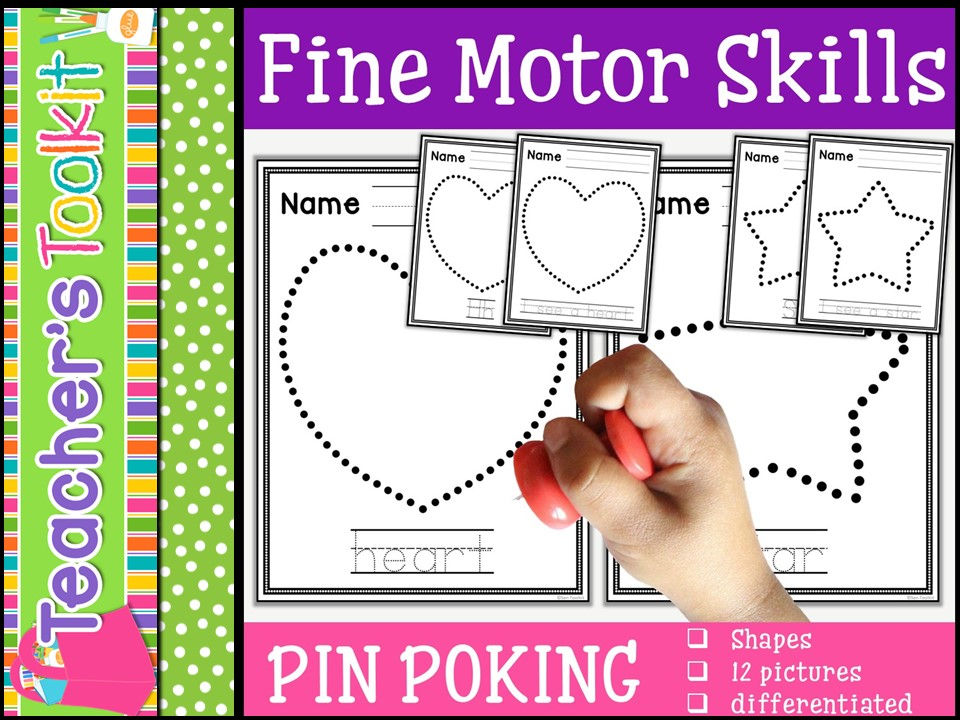 Motor Skills: Pin Poking Shapes