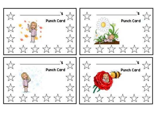 Punch Cards - Reward System - editable