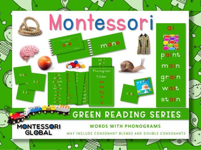 Montessori Green Reading Series - Phonograms