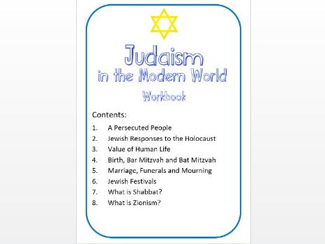 Judaism in the Modern World Workbook: High Ability