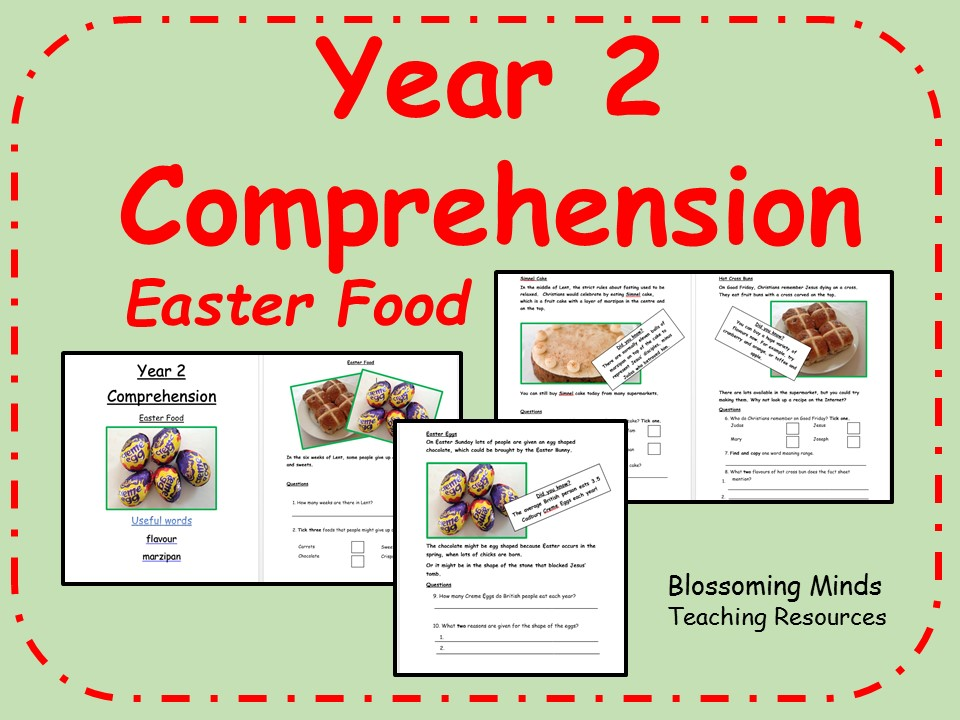 Year 2 SATs style comprehension - Easter food