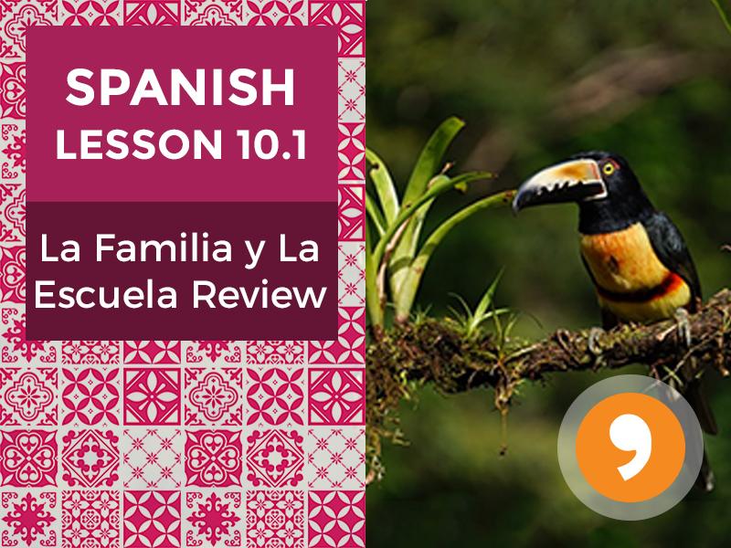 Spanish Lesson 10.1: La Familia y La Escuela Review
