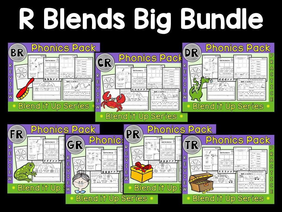 Phonics: Phonics Mega Pack of R Blends
