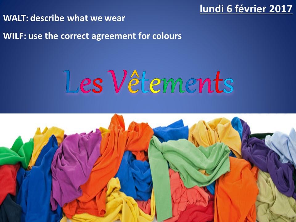Vêtements et couleurs - La valise de Dorothée