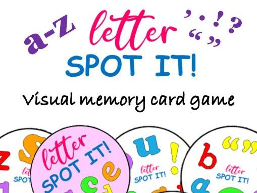 SPOT IT! Letter Matching Visual Memory Game