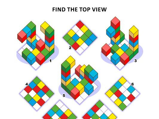Find the Top View Visual Math Puzzle