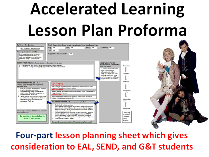 Accelerated Learning Four Part Lesson Planning Proforma