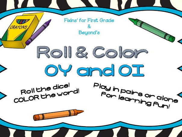 Roll & Color - Vowel pairs OI and OY