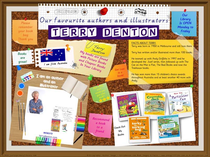 Library Poster - Terry Denton Australian Children's Author Illustrator
