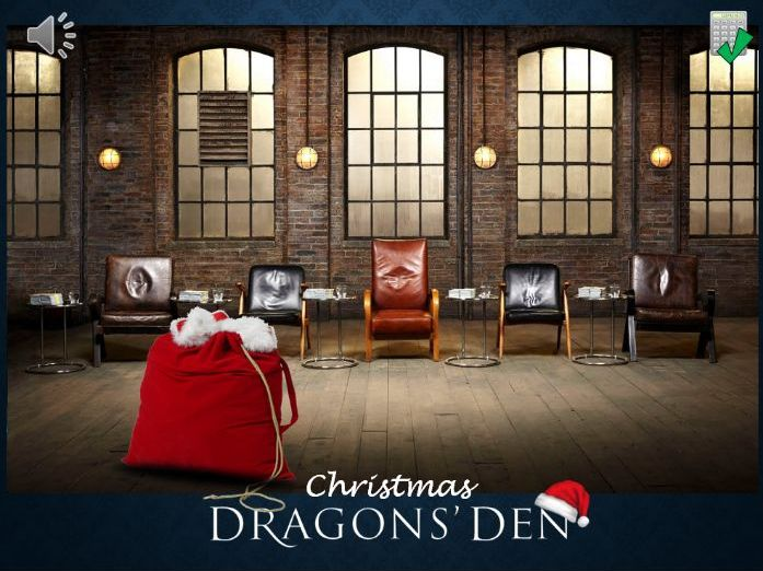 Dragon's Den - Christmas maths problems (GCSE)