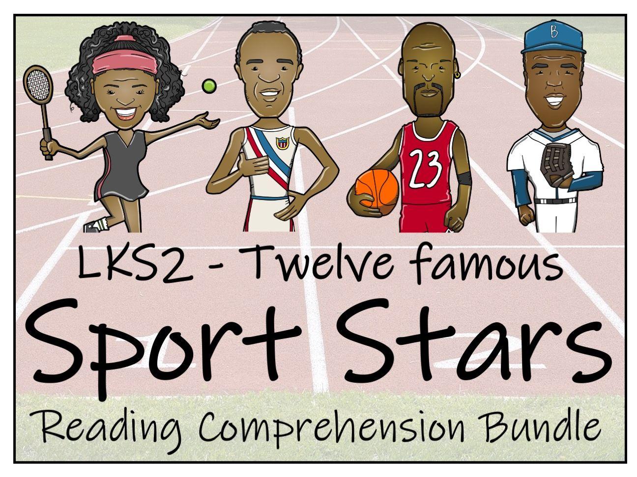 LKS2 Twelve Famous Sport Stars Reading Comprehension Bundle