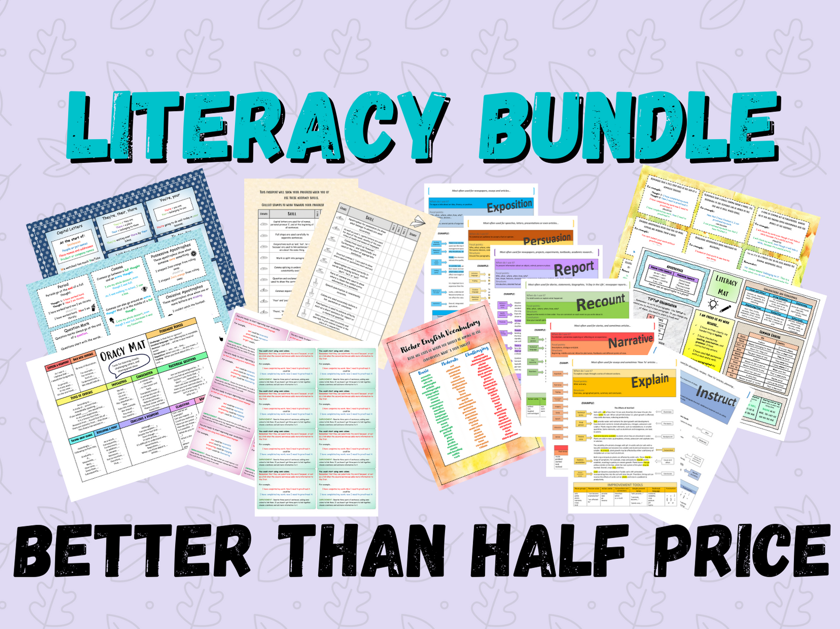 SAVE 50% | Literacy Pack | Accuracy | SPaG | Extended Writing and Oracy
