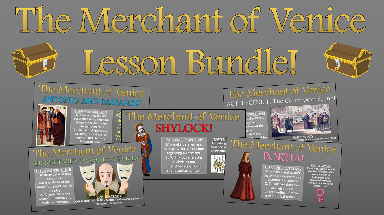 The Merchant of Venice Lesson Bundle!