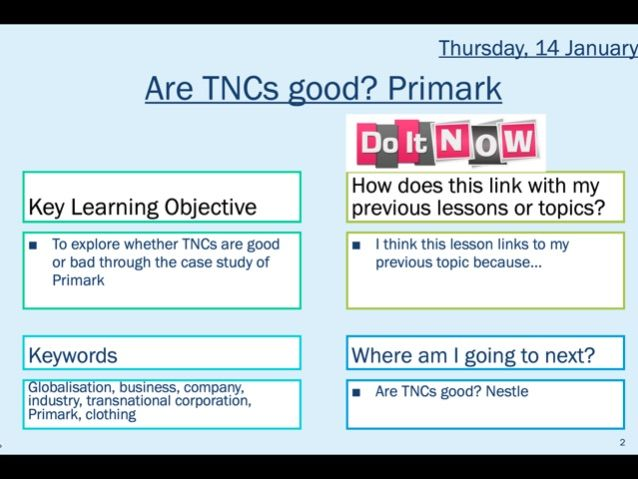 The role of TNCs: Primark