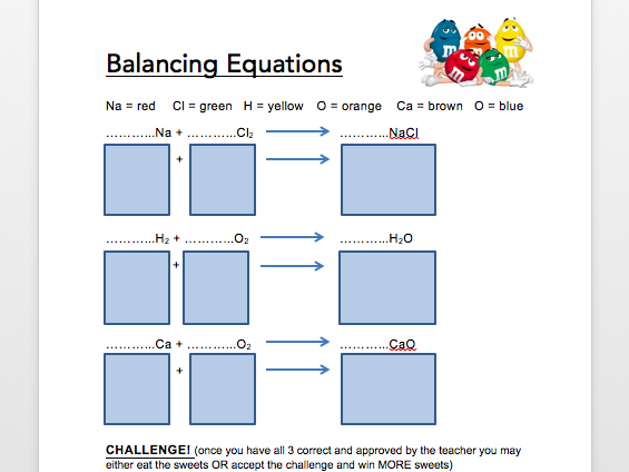 Balancing Chemical Equations (with m&m's!)