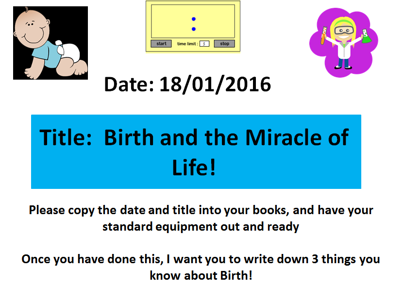 The Stages of Birth! A KS3 Science Lesson