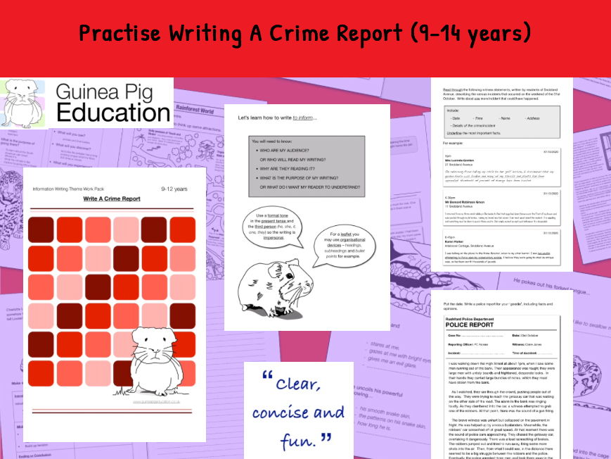 Practise Writing A Crime Report (Information Writing) 9-14 years