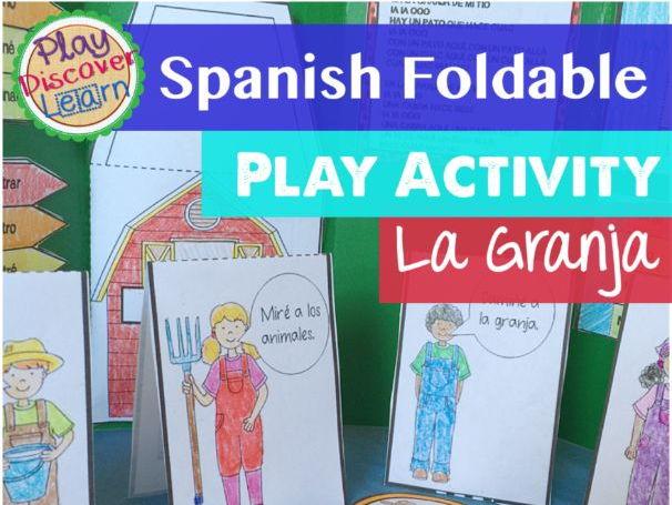 Spanish Foldable Play Activity