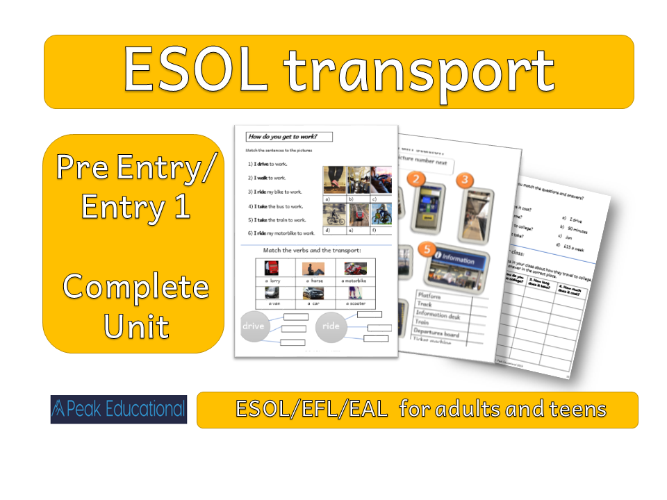 ESOL/ESL/EFL/EAL  Transport and Travel