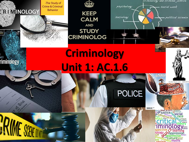 Criminology Eduqas/WJEC- Level 3 (NEW SPEC)Unit 1 Changing Awareness of Crime-AC1.6-Statistics