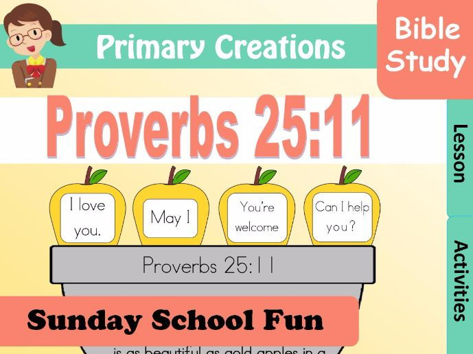 Sunday School Proverbs 25:11
