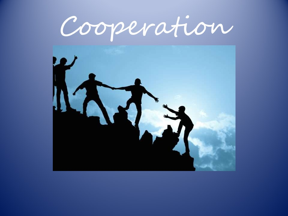 Cooperation - Collective Worship