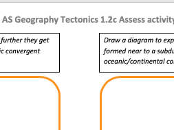 AS Geography Tectonics Edexcel Topic 1.2a Assessing Physical processes