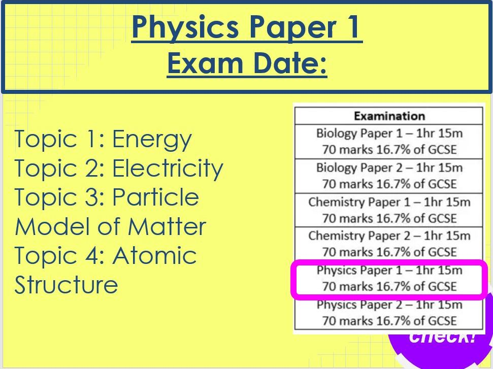 Physics Paper 1 Revision AQA Trilogy Higher