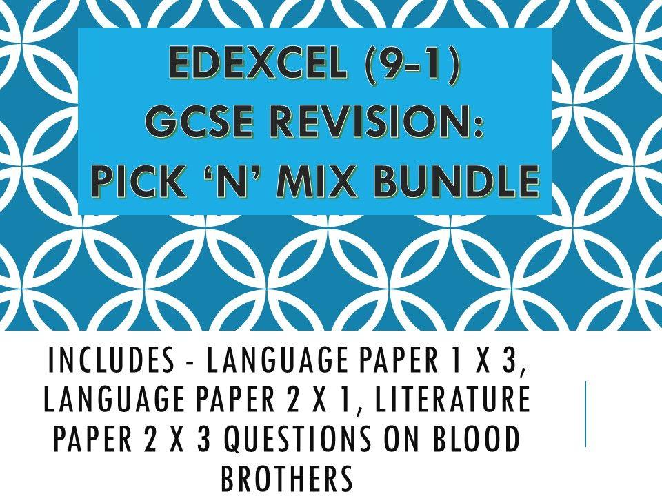 Edexcel Pick n Mix English GCSE Revision Bundle